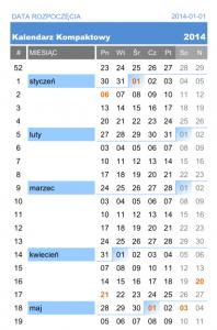 kalendarz kompaktowy 2014